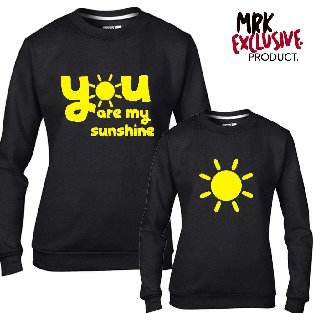 Mummy & ME Mum & Daughter Black Matching Sunshine Sweatshirts (MRK X)