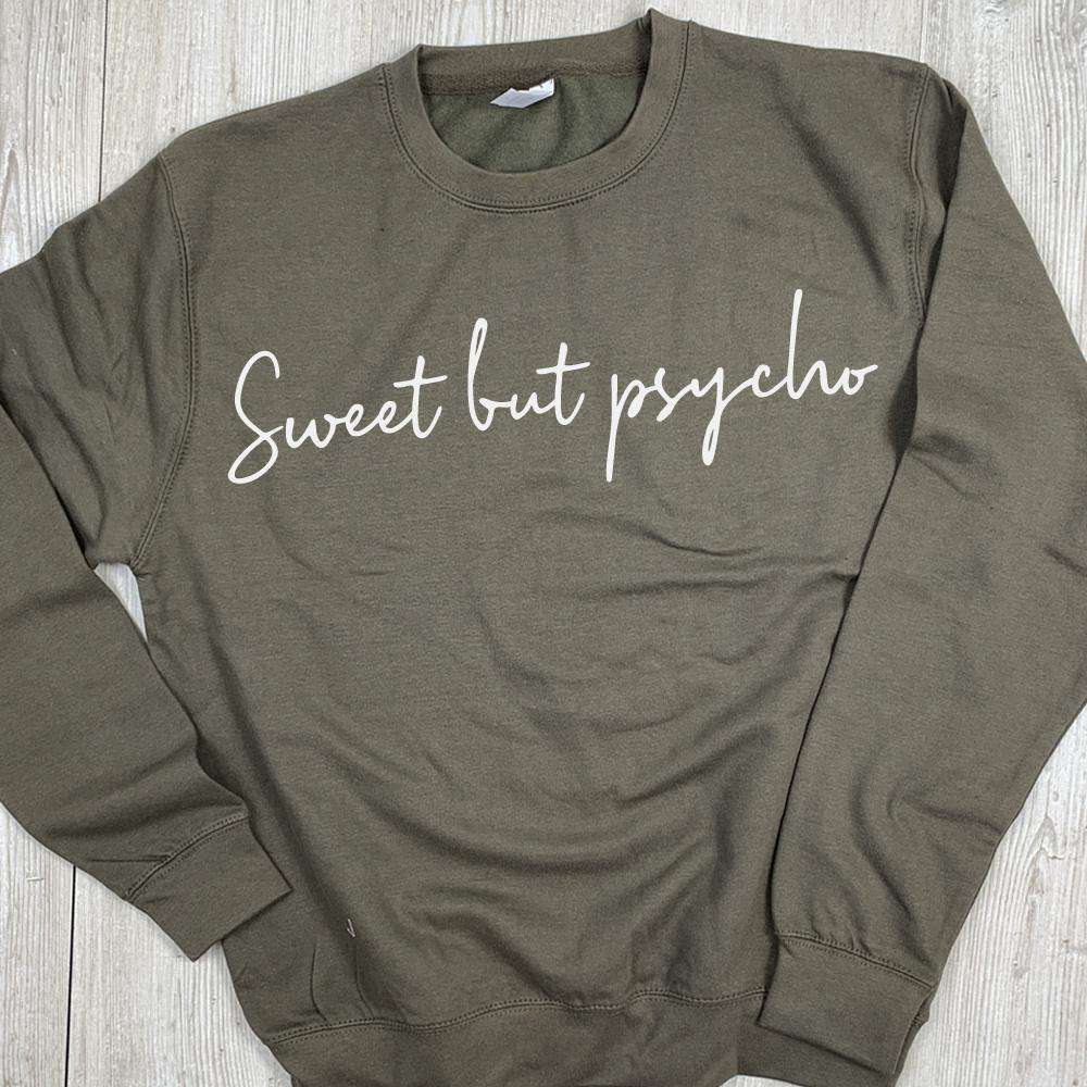 Sweet But Psycho Sweater - White/Pink (MRK X)