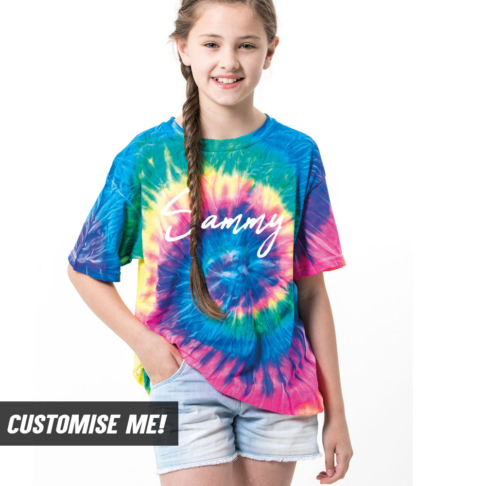 Personalised Name Tie Dye T-Shirt (MRK X)