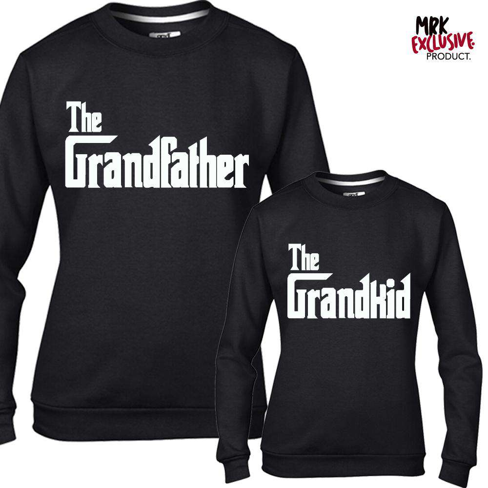 The Grandfather/Grandkid Mob Black Sweaters (MRK X)