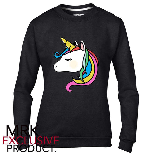 The Unicorn Black Crew Sweater (0-14 Years) (MRK X)
