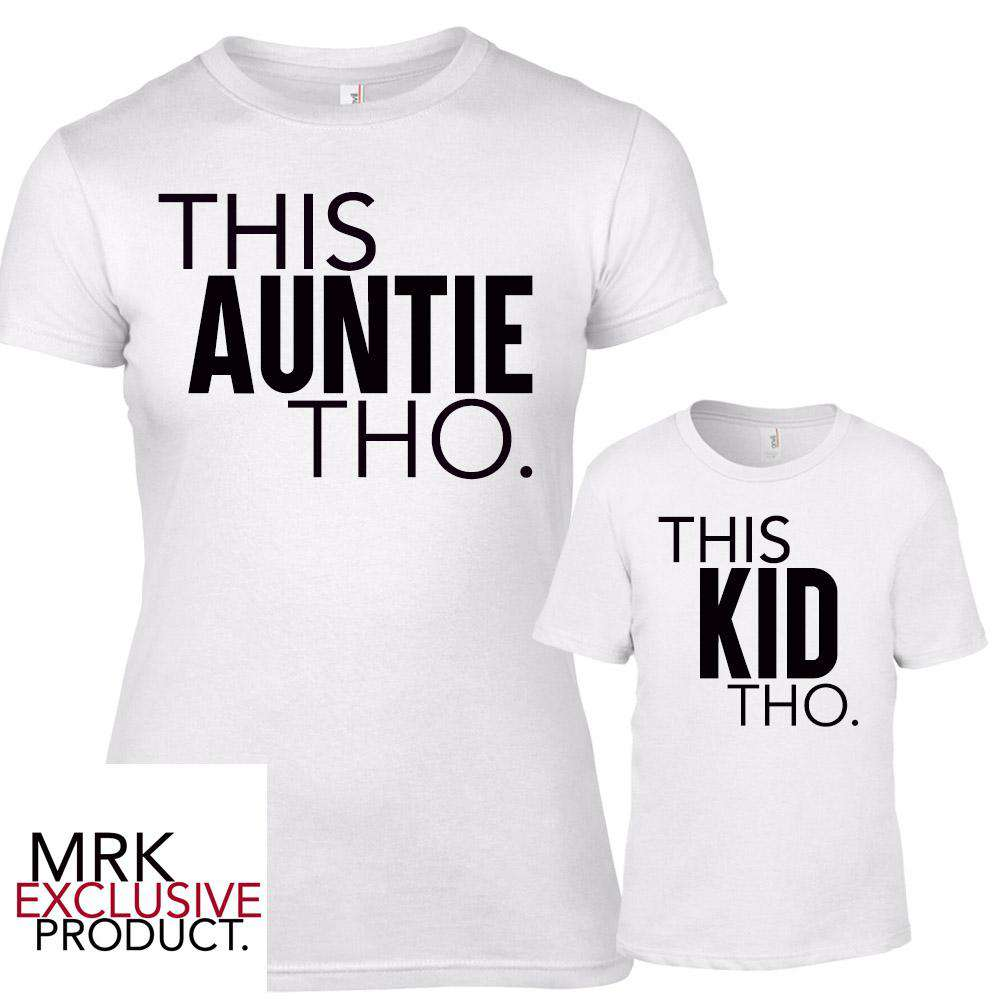 This AUNTIE/This KID White Matching Tees (MRK X)