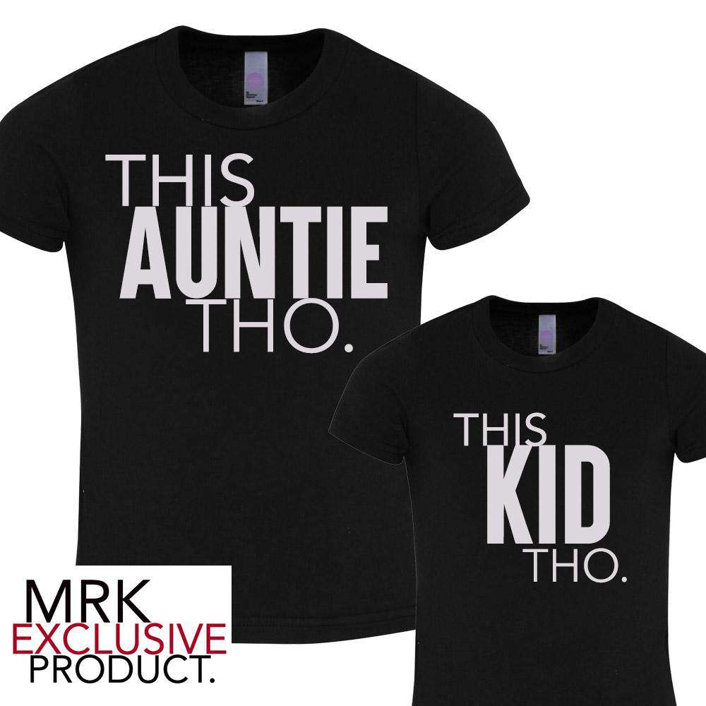 This AUNTIE/This KID Black Matching Tees (MRK X)