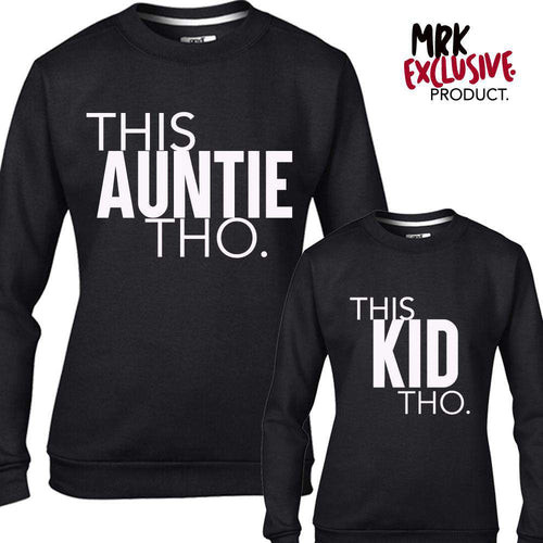 This AUNTIE/This KID Black Matching Sweaters (MRK X)