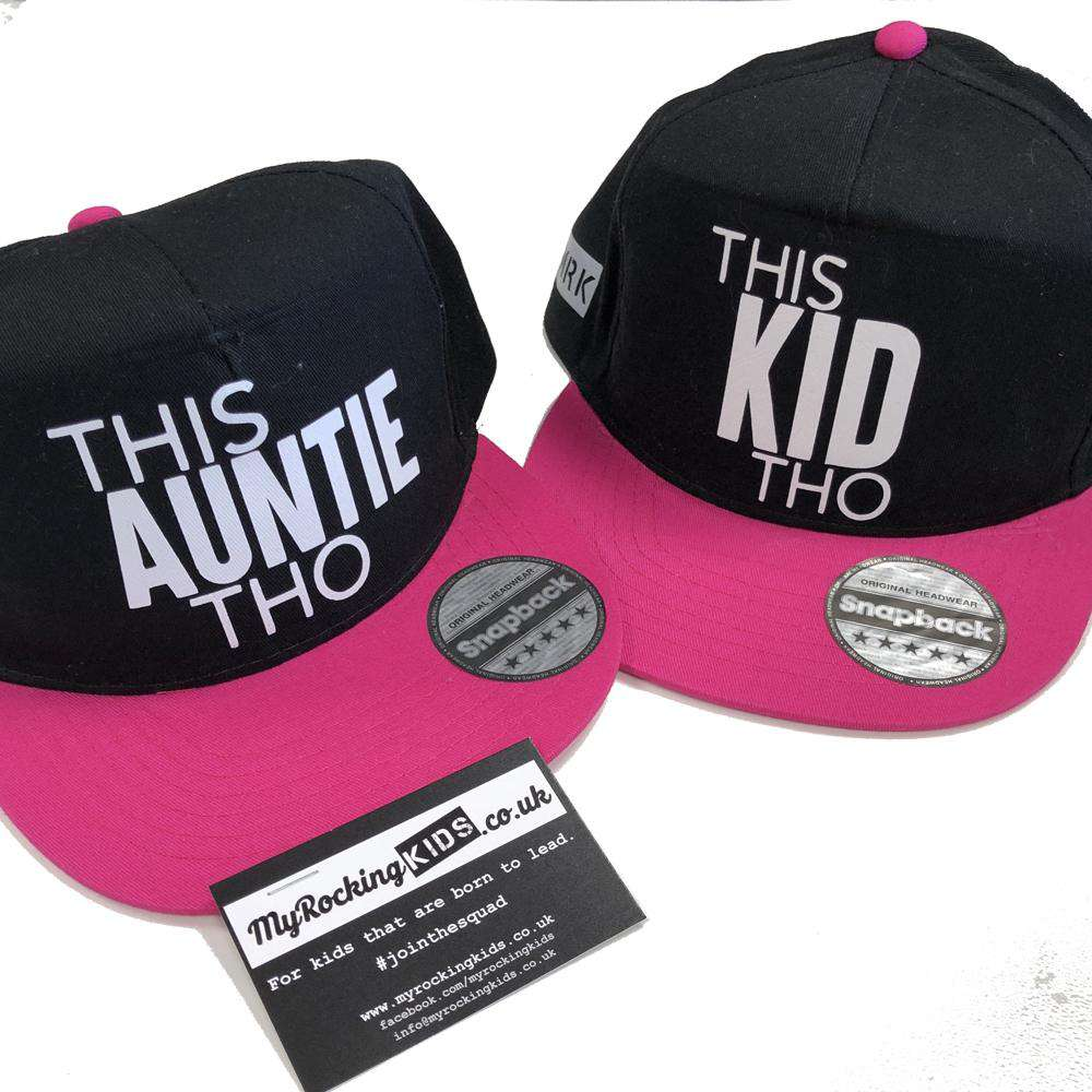 This Auntie/This Kid Matching Snapback Caps (MRK X)