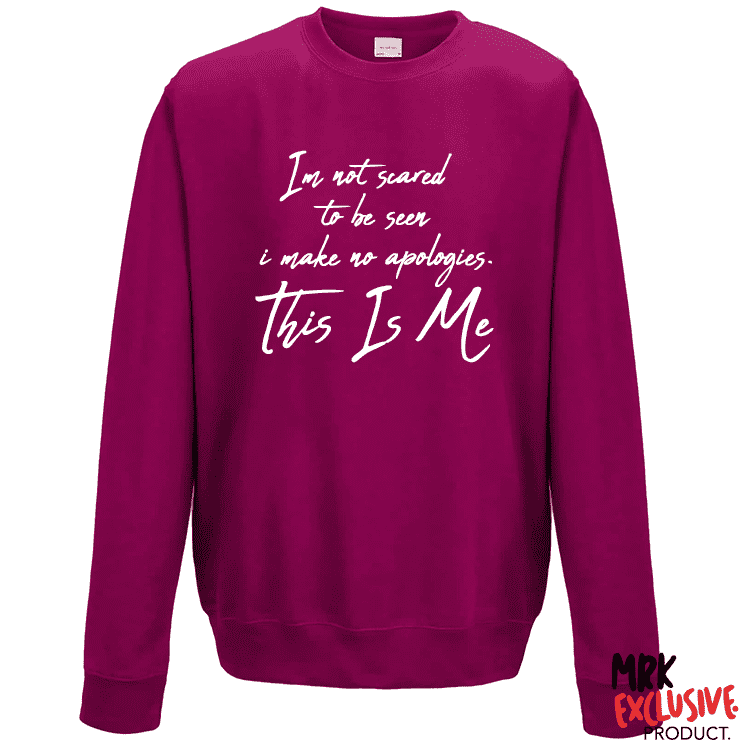 This Is Me - Hot Pink Sweater (MRK X)