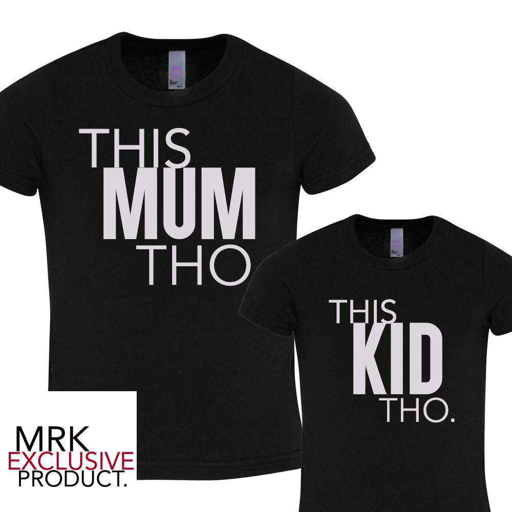 This MUM/This KID Black Matching Tees (MRK X)