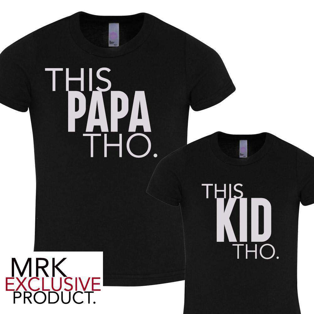 This PAPA/This KID Black Matching Tees (MRK X)