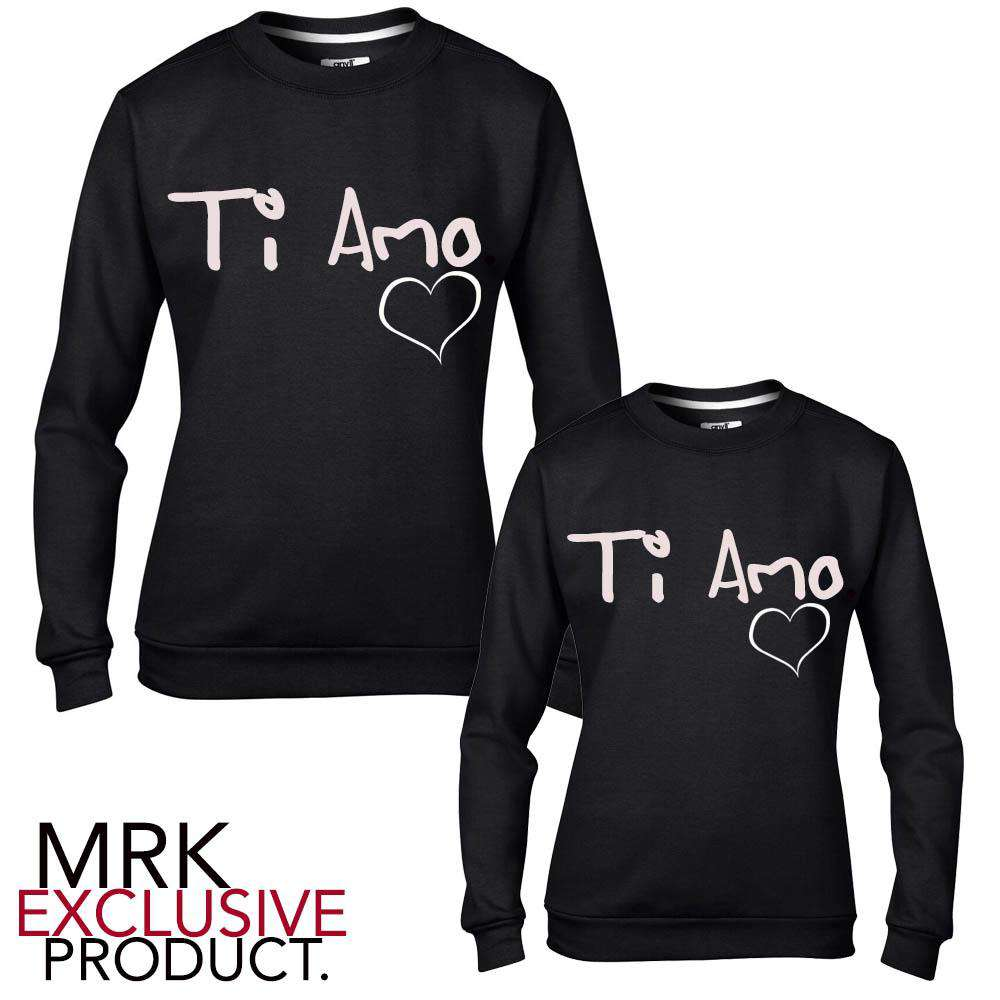 TI AMO Mummy Matching Black Sweaters (MRK X)