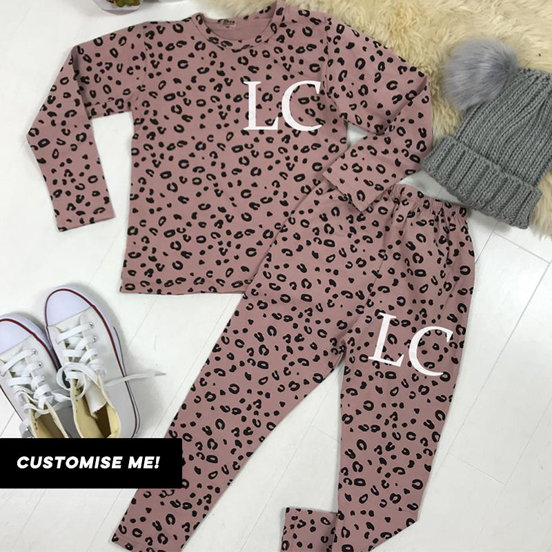 Personalised Initial Wild Leopard Lounge Set (1-6 Years) (MRK X)