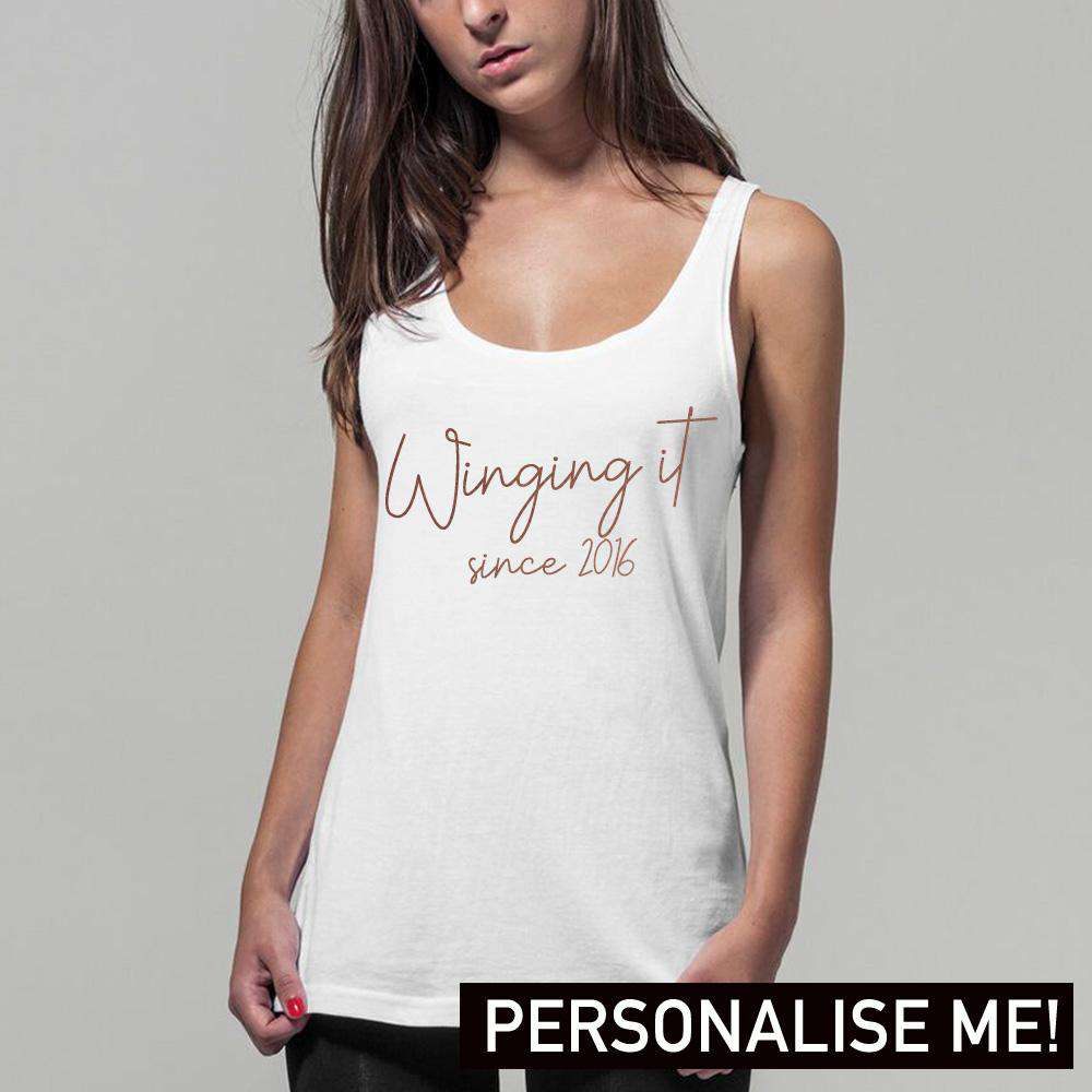 Personalised Winging It Womens Tank (MRK X)