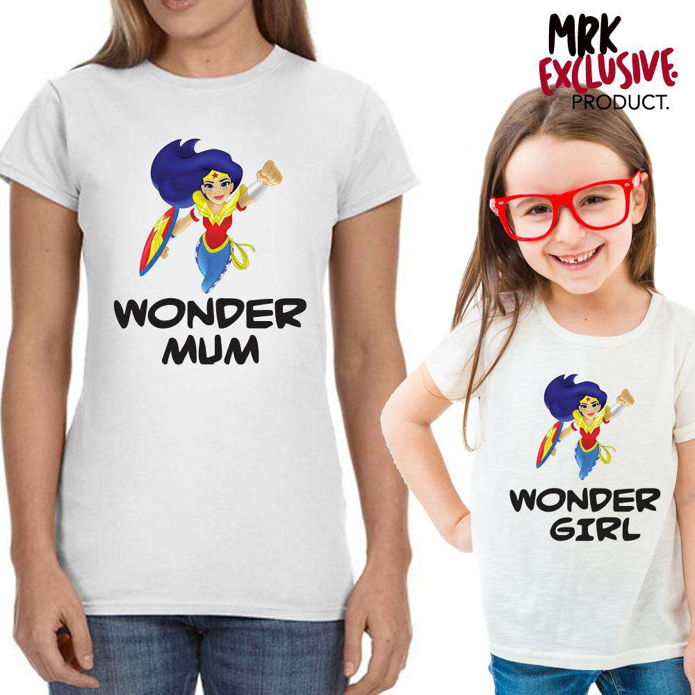 Wonder Mum/Wonder Girl Mum & Kid Matching Tees (MRK X)