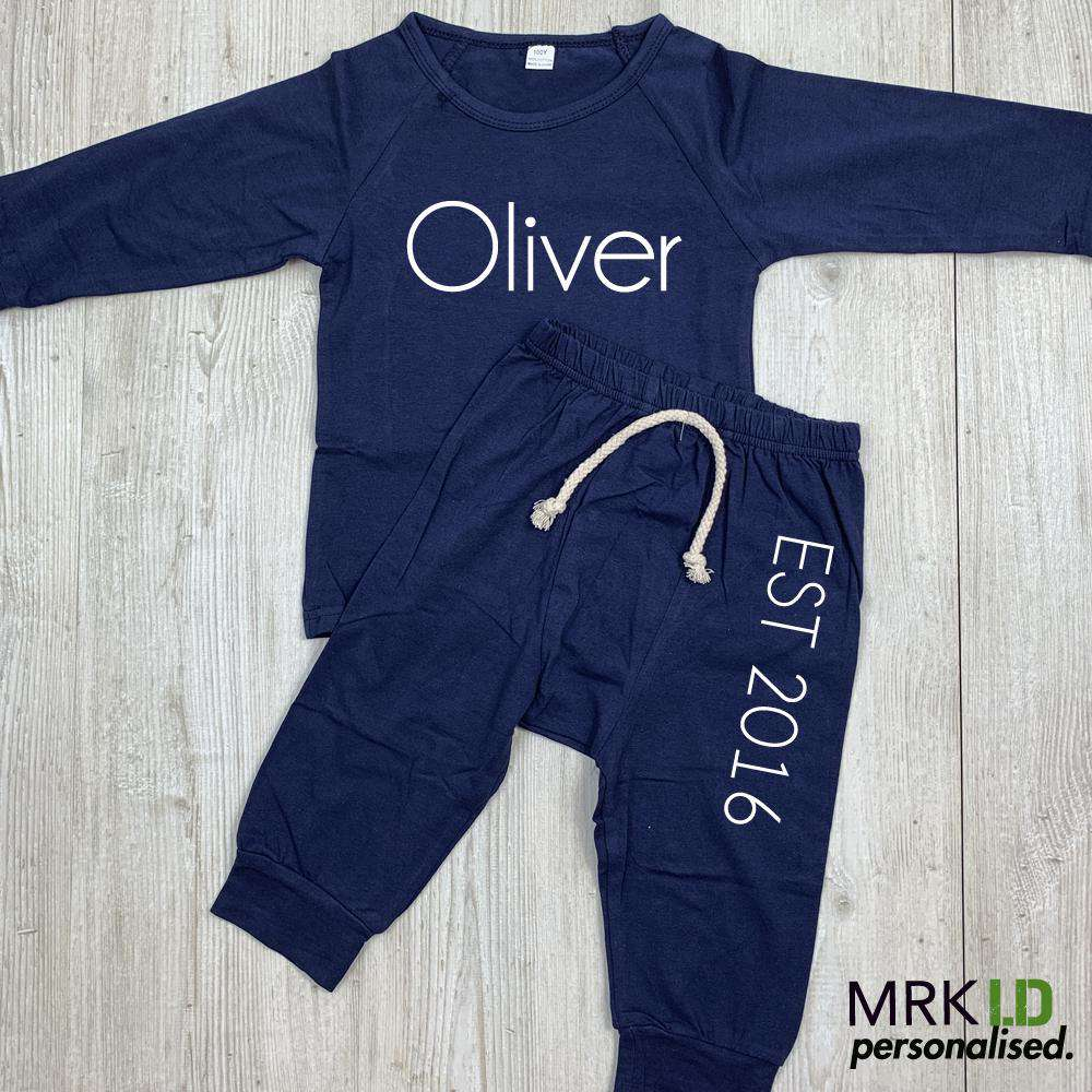 Personalised Waltham Established Infants Summer Tracksuit Set (0-18 Months) (MRK X)