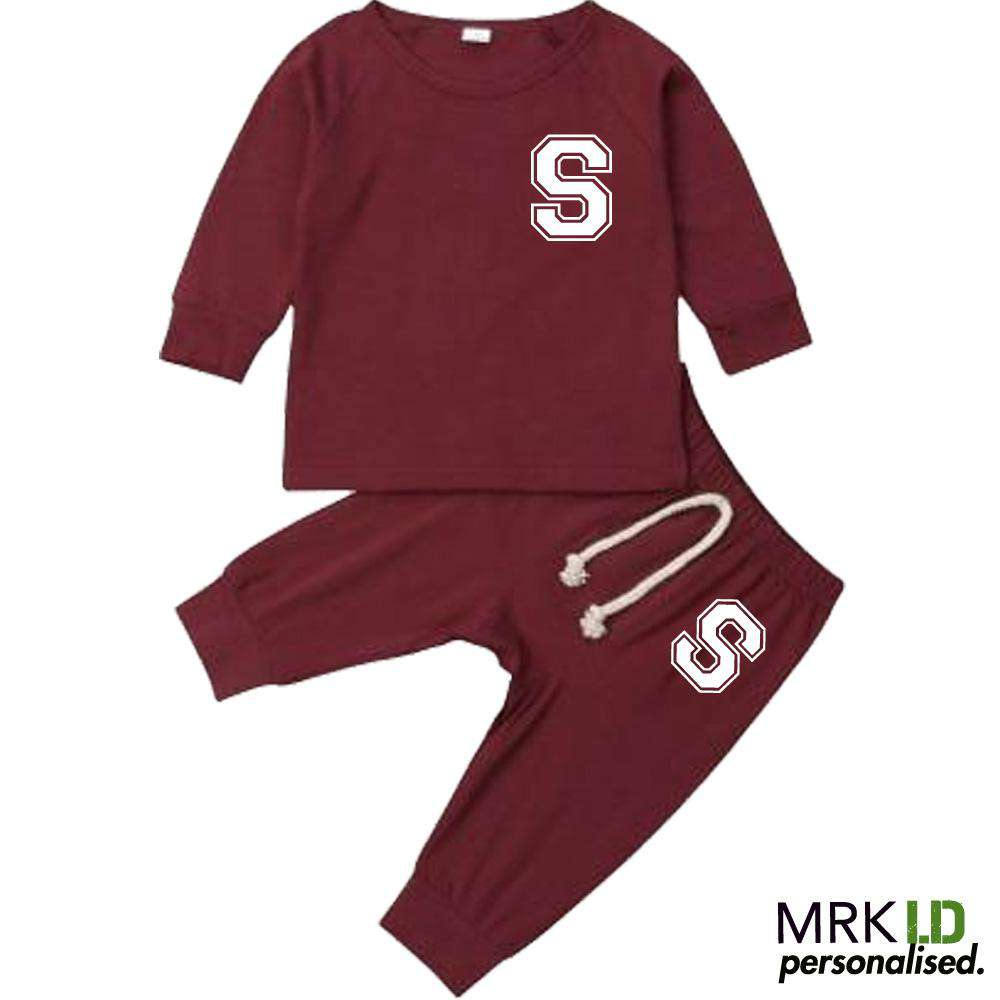 Personalised Lansgton Initial Infants Tracksuit Set (0-18 Months) (MRK X)