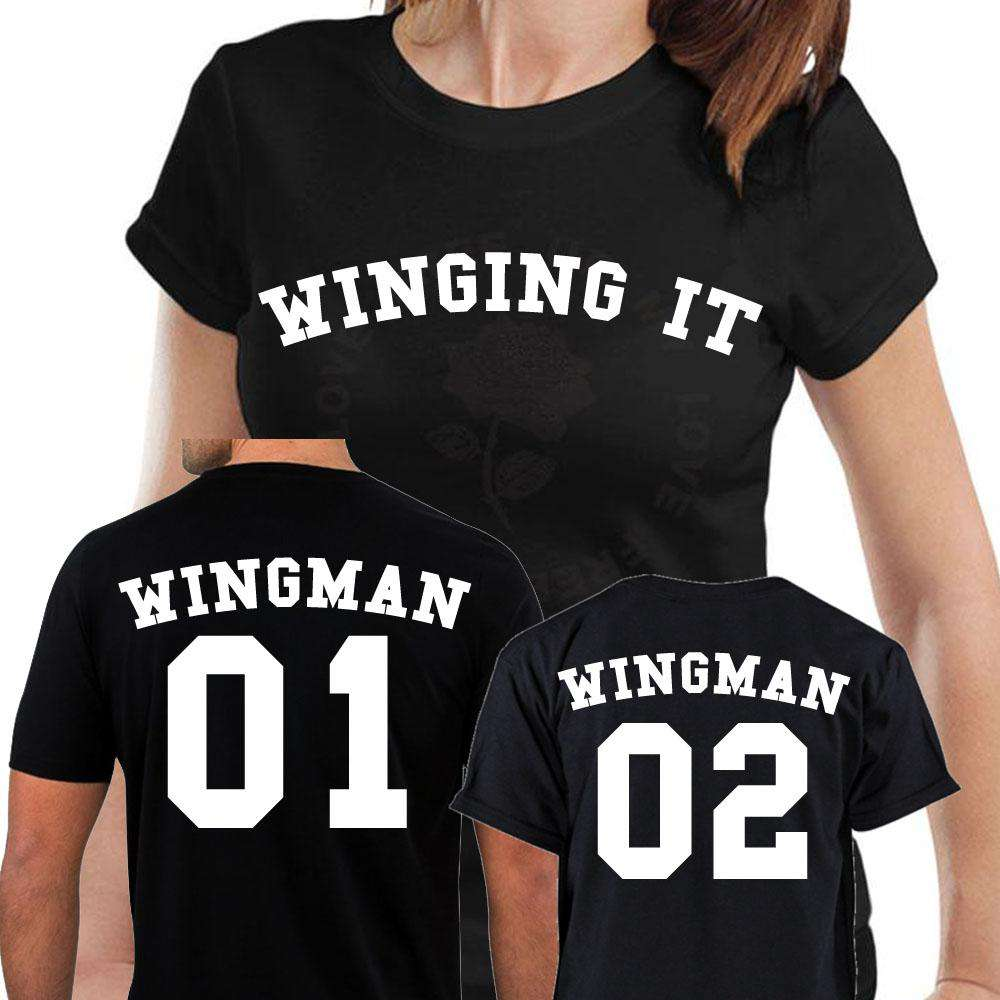 Winging Motherhood & Wingmen Matching Tees (MRK X)