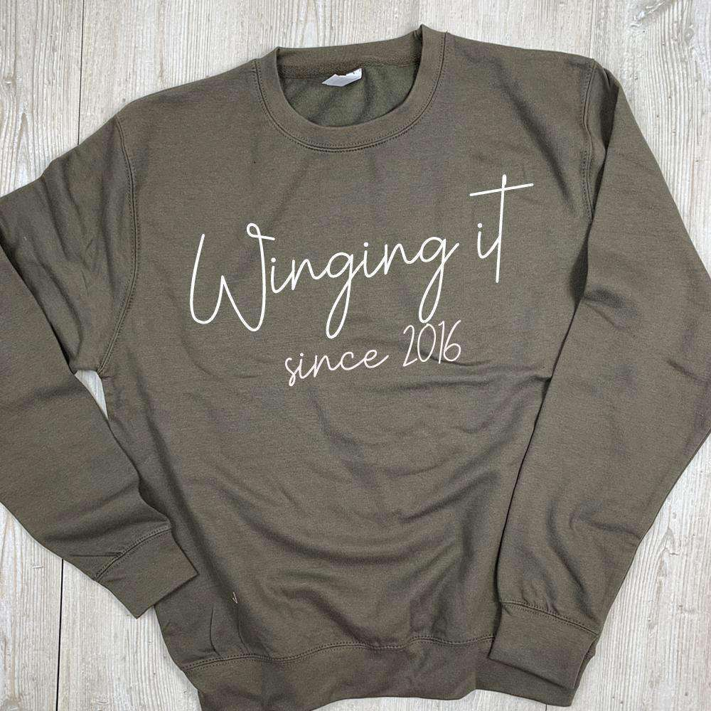 Personalised Winging It Sweatshirt (MRK X)