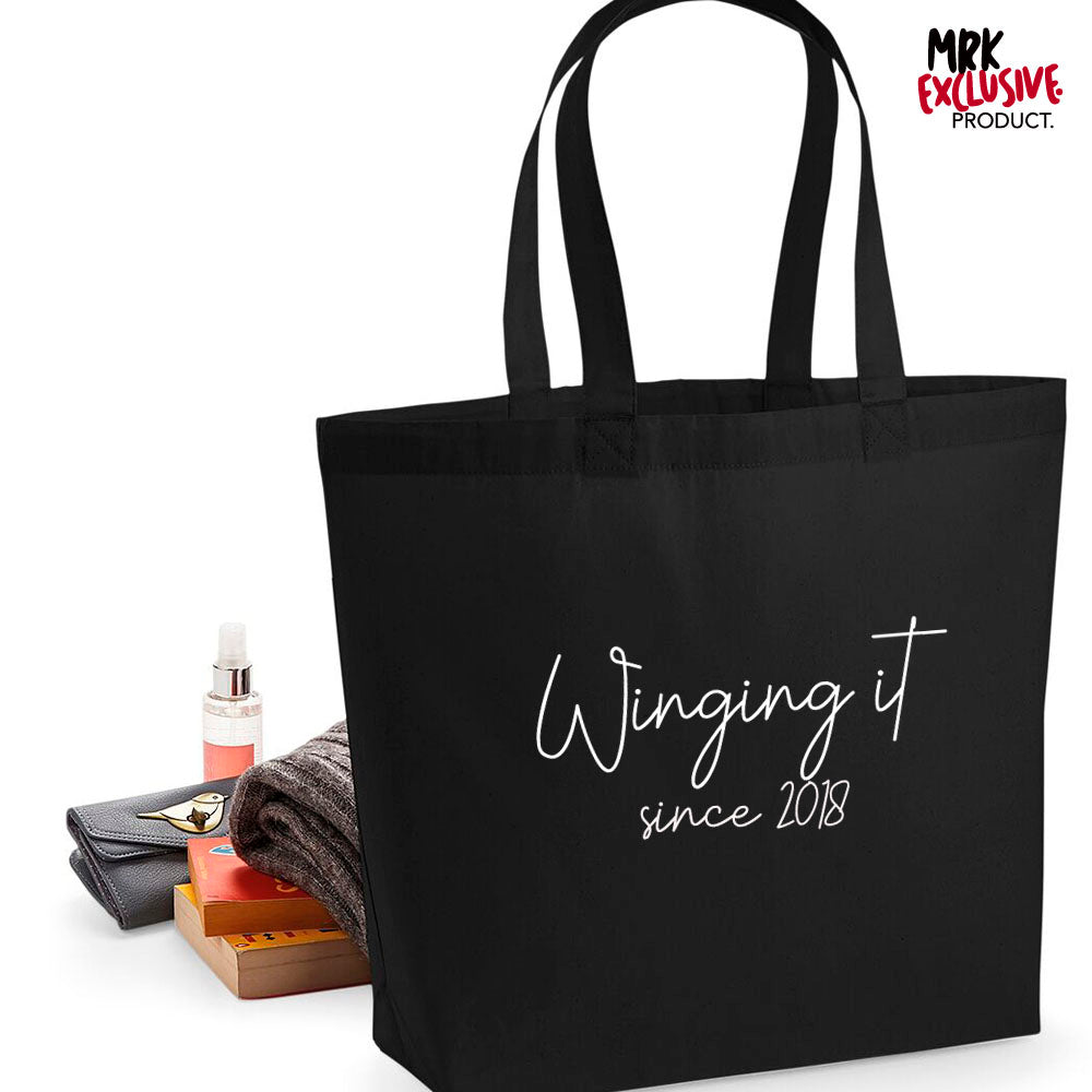 Personalised Winging It Since Tote Bag (MRK X)