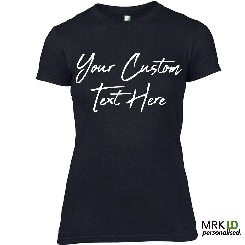Choose Your Text Personalised Abuget Black Tee (MRK X)