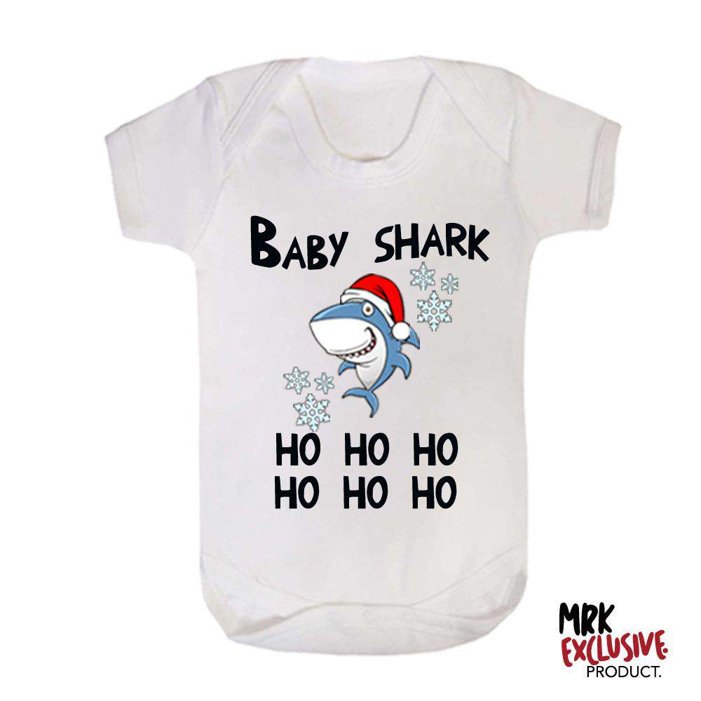 Christmas Shark White Bodysuit (MRK X)