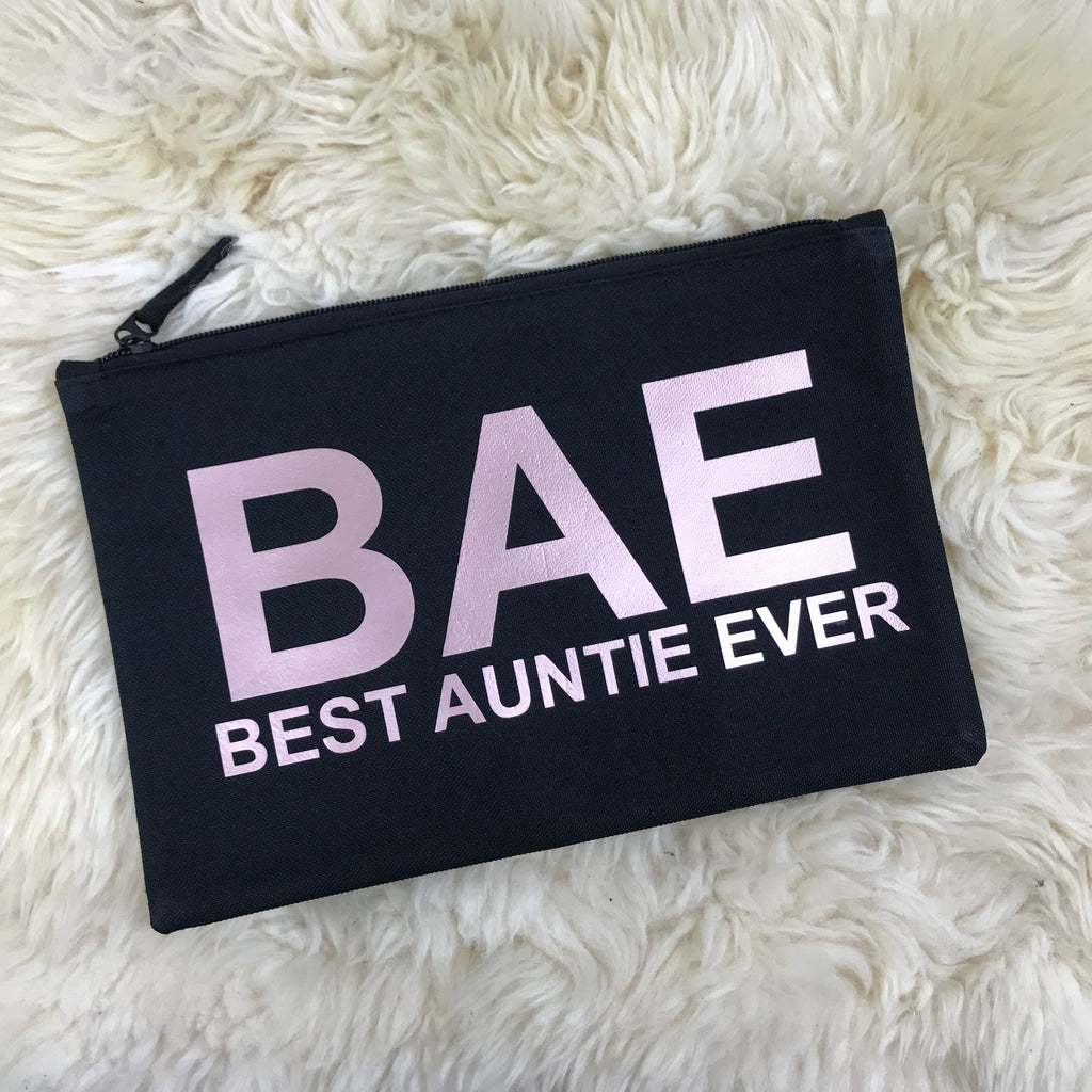 BAE (Best Auntie Ever) Grab/Makeup Pouch (MRK X)