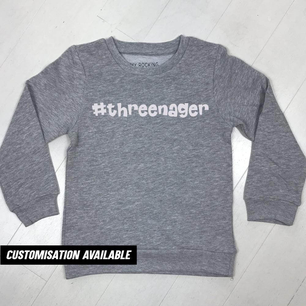 #Threenager Sweatshirt (MRK X)