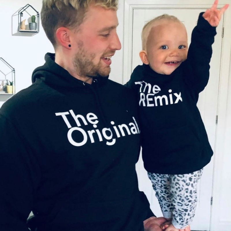 Original/Remix Family Matching Black Hoodies (MRK X)