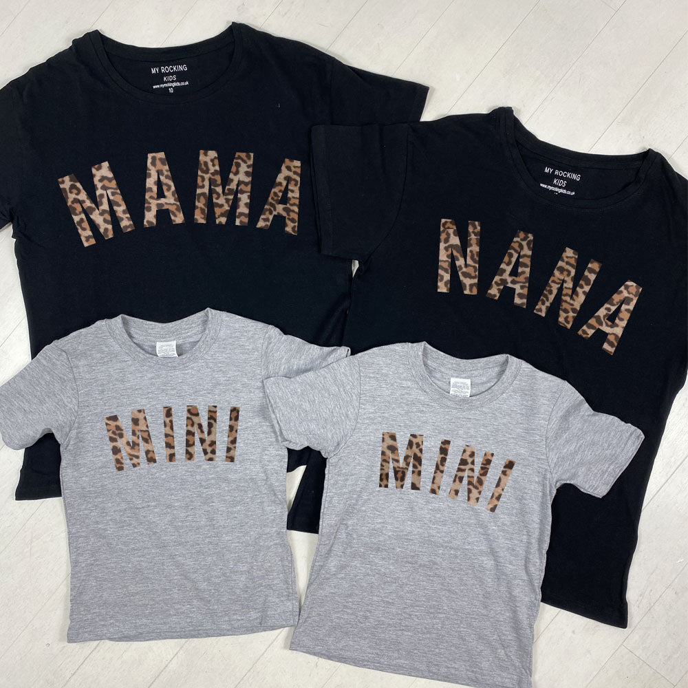 Mama/Nana & Mini Matching T-Shirts (MRK X)