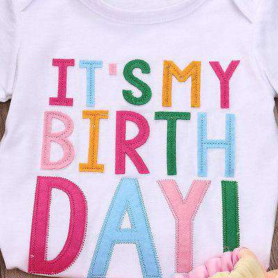 Its My Birthday Party Tee and Tutu Set (1-6 Years)