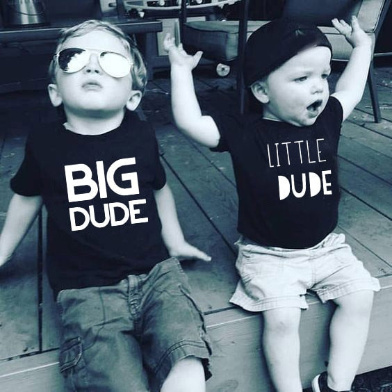 Big Dude & Little Dude Brother Matching T-Shirts (MRK X)