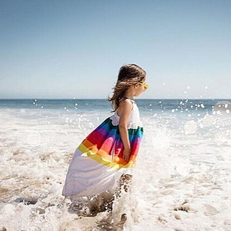 Summer Rainbow Waterfall Dress (MRK X)