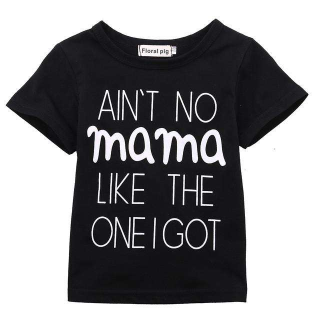Ain't No Mama Short-Sleeved T-Shirt - Black (MRK X)