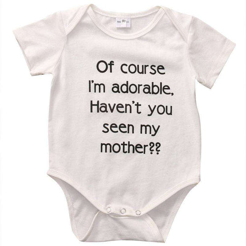 Of Course I'm Adorable Bodysuit (0-18 Months)