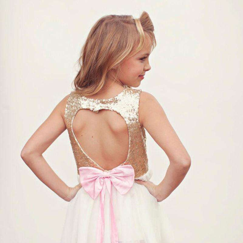 Bow Heart Hollow Back Gown (1-8 Years) (MRK X)