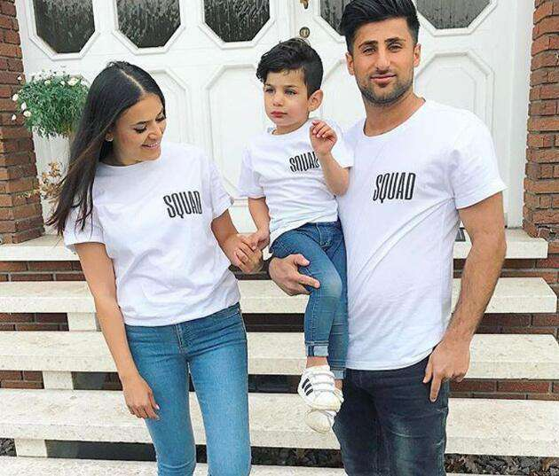 OUR SQUAD Small Logo White Family Matching Tees (MRK X)