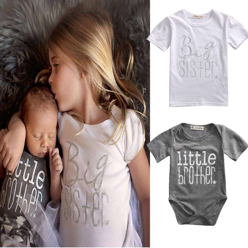Big Sis/Little Bro Tee & Romper Set (0-13 Years) (MRK X)