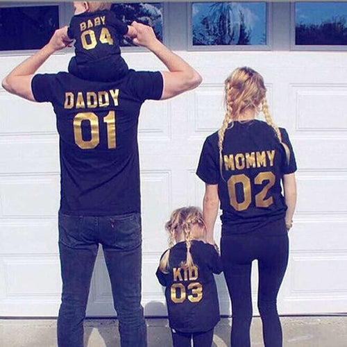 Family Matching Black/Gold Tees (MRK X)