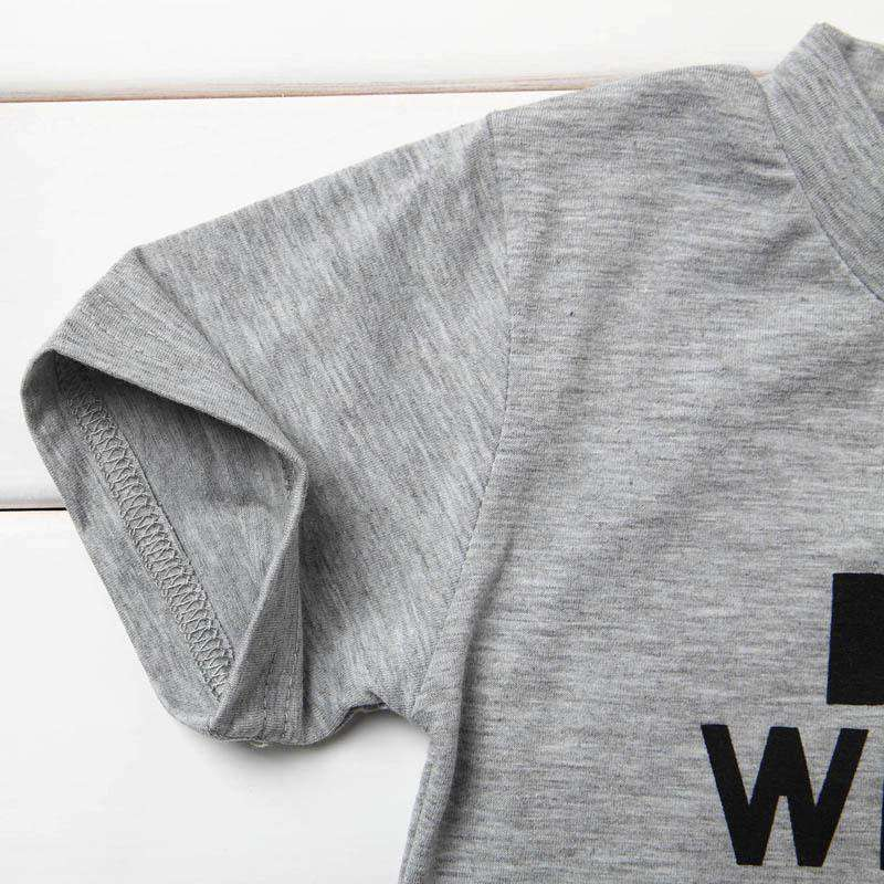 Boys Will Be Boys.. Grey Crew Tee (0-13 Years) (MRK X)