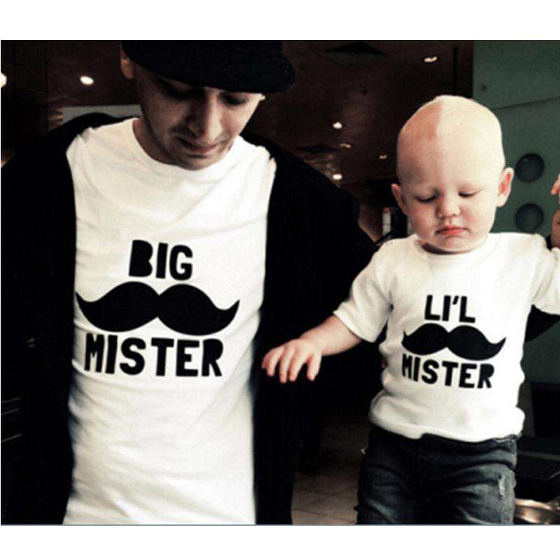 Big Mister/Lil Mister Matching Daddy & ME Tees (MRK X)