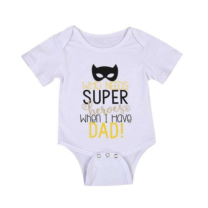 Dad Superheroes Slogan Bodysuit (MRK X)
