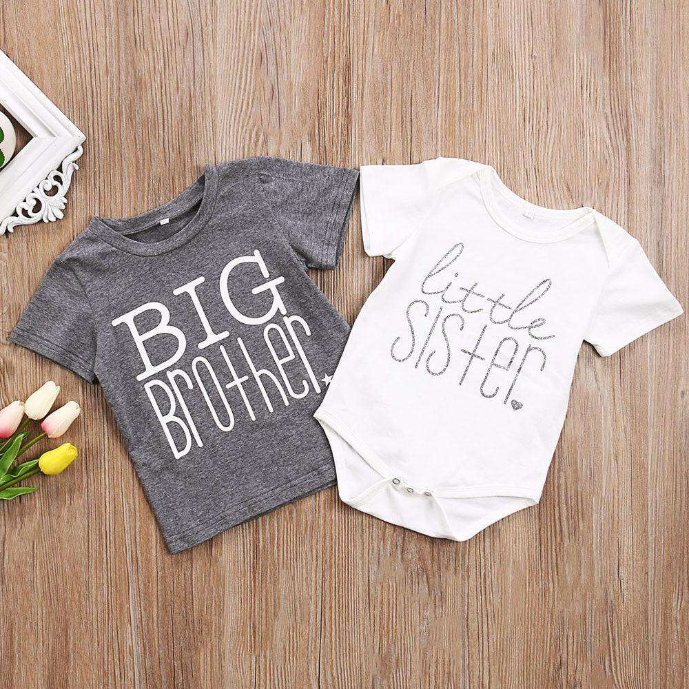 Big Bro/Lil Sis Matching Tees & Rompers (0-13 Years) (MRK X)