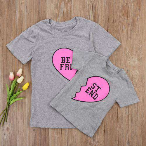 BEST FRIEND Mummy & ME Grey Tee Set (MRK X)