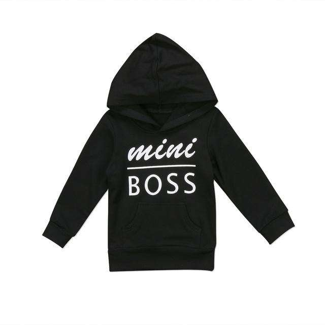 Mini BOSS Hoody Black - 3M-6 Years (MRK X)