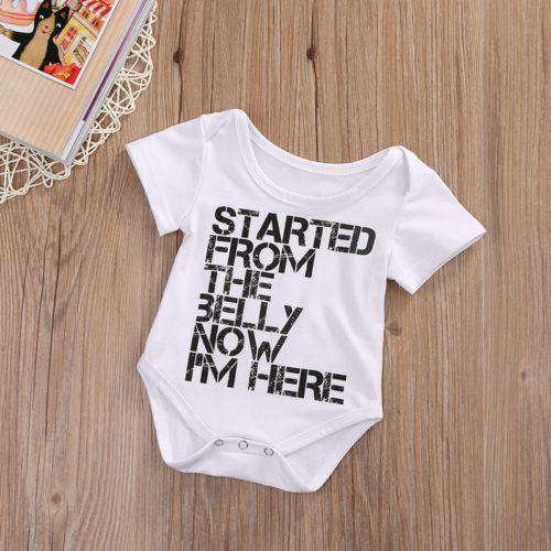Started From The Belly Bodysuit (0-24 Months) (MRK X)