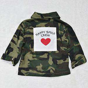 Camo Crew Back Patch Button-Down (1-7 Years)