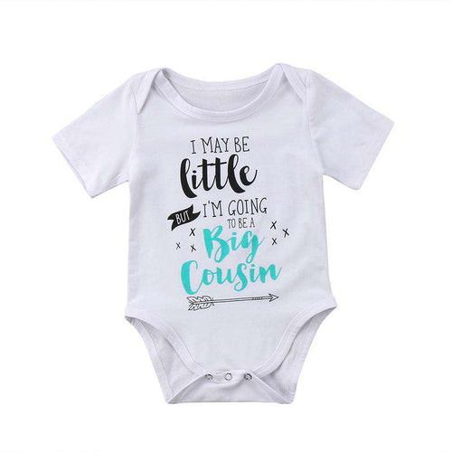Little Big Cousin White Bodysuit (3-18 Months)