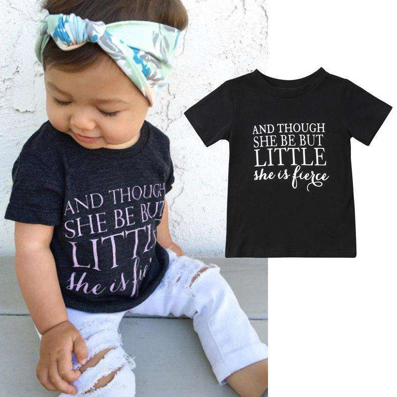 Though She is Little.. Black Tee (0-13 Years) (MRK X)