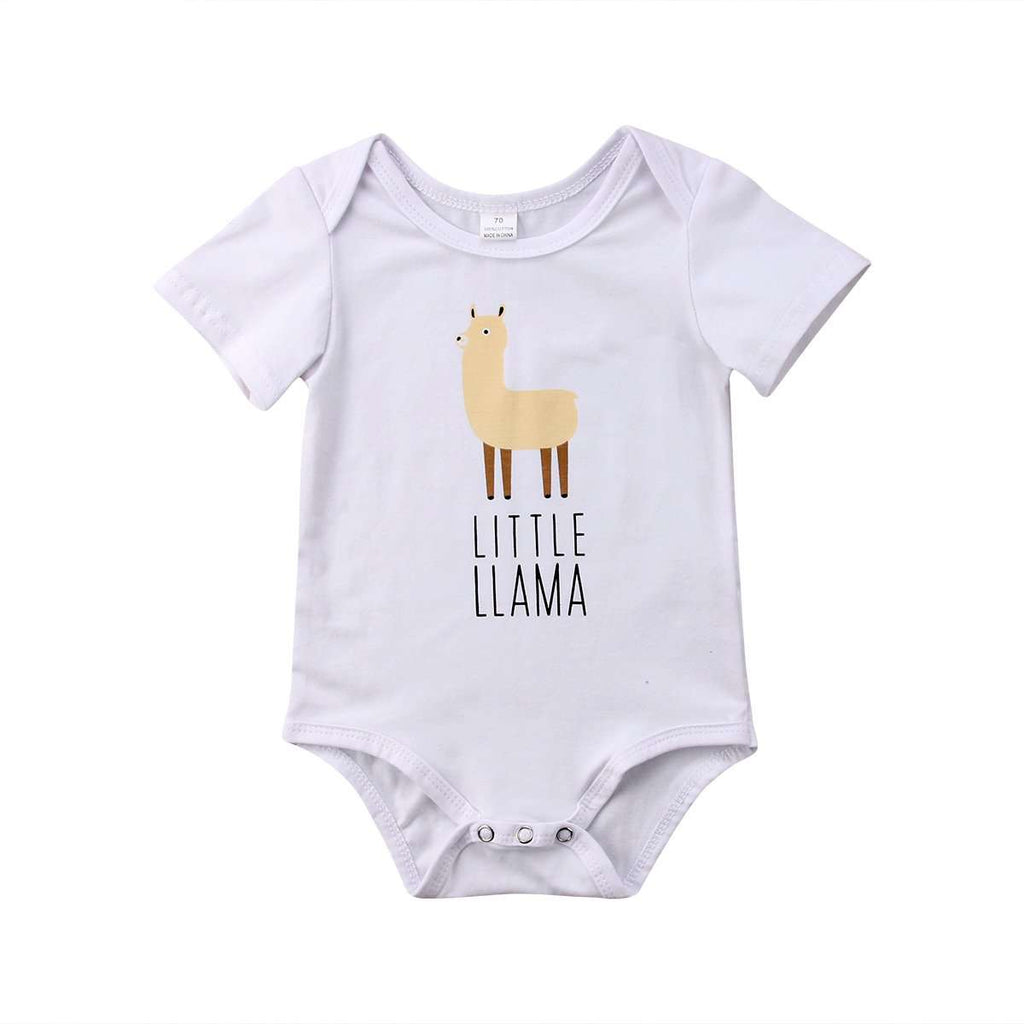 Little Lama White Bodysuit (0-24 Months) (MRK X)