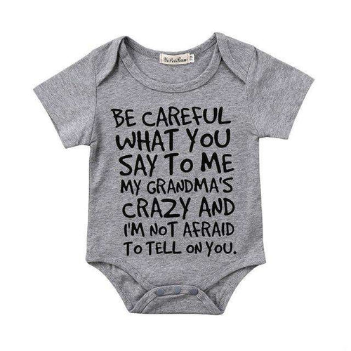 Careful What You Say..Multi Bodysuits Grey GS (3-24 Months)