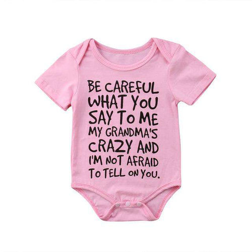 Careful What You Say..Multi Bodysuits Pink GS (3-24 Months)
