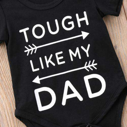 Tough Like Dad Black Bodysuit (3-6 Months) (MRK X)